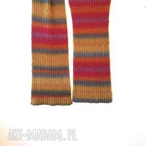 szaliki szalik kolorowy szal ręcznie robiony