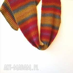 szalik szaliki kolorowy szal ręcznie robiony