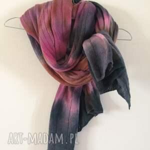 szare szaliki wełniany kolorowy szal
