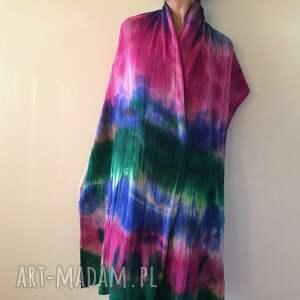 szaliki prezent kolorowy wełniany szal w chłodnych