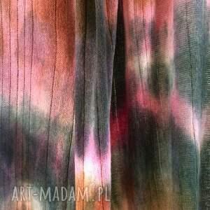 prezent kolorowy wełniany szal