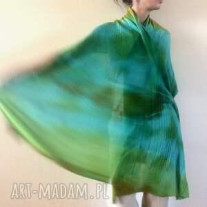 atrakcyjne szaliki kolorowy wełniany szal