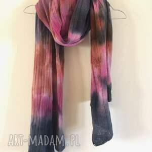 szaliki szal kolorowy wełniany