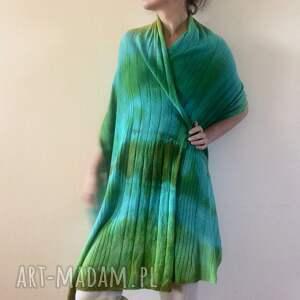 prezent szaliki kolorowy wełniany szal