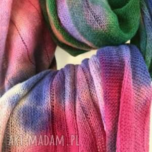 prezent szaliki kolorowy wełniany szal w chłodnych