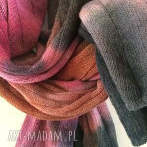 szaliki prezent kolorowy wełniany szal