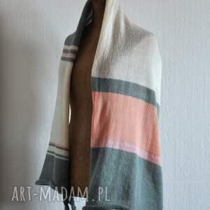frapujące szaliki szal letni pastelowy