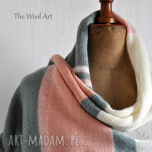 szaliki szalik letni pastelowy szal