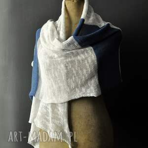 intrygujące szaliki szal letni len bawełma