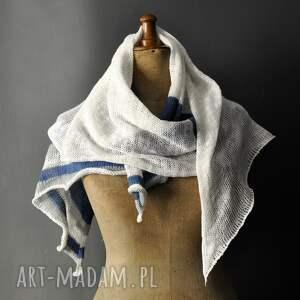 The Wool Art intrygujące szaliki plażowy letni szal len bawełma