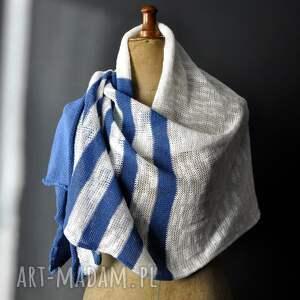 niebieskie szaliki szal letni