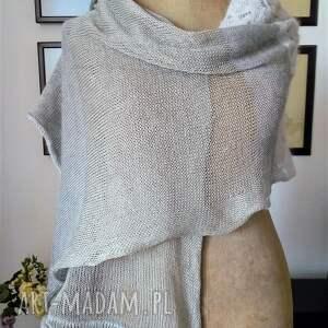 szaliki szalik letni szal silk alpaka i len