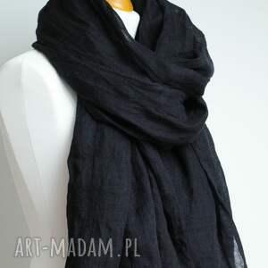szaliki szal lniany chusta w kolorze