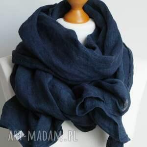 szaliki szalik lniany szal chusta w kolorze