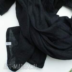szaliki chusta lniany szal w kolorze