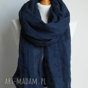 niekonwencjonalne szaliki szalik lniany szal chusta w kolorze