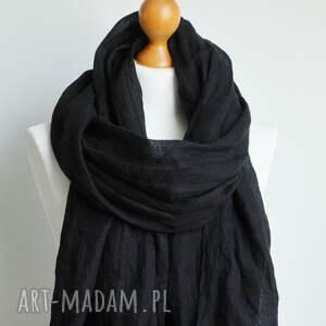 chusta szaliki lniany szal w kolorze
