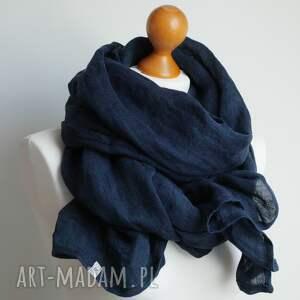 szaliki lniany szal chusta w kolorze
