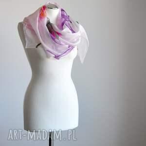 awangardowe szaliki jedwabny malowany szal -lilie