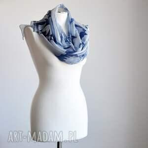 unikalne szaliki malowany jedwabny szal -niebieskie