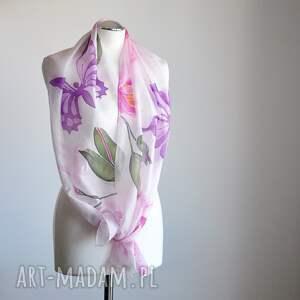 Malowany Jedwab awangardowe szaliki szalik jedwabny szal -lilie