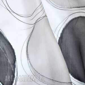 jedwabny szal szaliki białe malowany