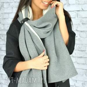 niesztampowe szaliki szal-szary mega duży szal 250cm!! szary