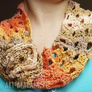 handmade szaliki naszyjnik wiosenny