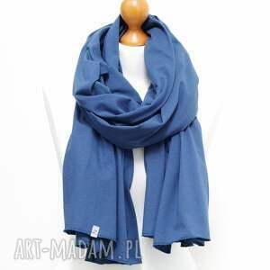 szalik szaliki niebieski szal bawełniany