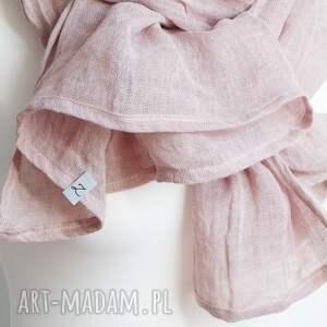 intrygujące szaliki chusta obszerny szal lniany wiosenny