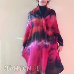 Anna Damzyn handmade szaliki szal ognisty wełniany