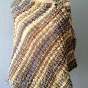 szal szaliki brązowe olbrzymi w szarościach