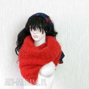 szaliki szal oversize - czerwony szeroki