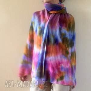 intrygujące szaliki szal pastelowy ciepły miękki