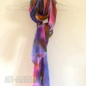 szal szaliki kolorowe pastelowy ciepły miękki