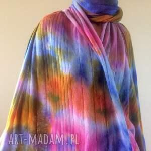 intrygujące szaliki wełniany pastelowy ciepły miękki