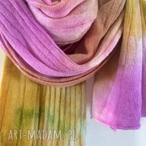 elegancki szaliki pastelowy miękki z jagnięcej wełny