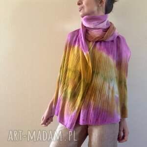 wełniany szaliki kolorowe pastelowy miękki z jagnięcej wełny