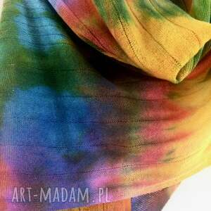 hand made szaliki prezent ciepły kolorowy wełniany