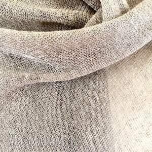 ręczne wykonanie szaliki szal klasyczny lniany w naturalnym