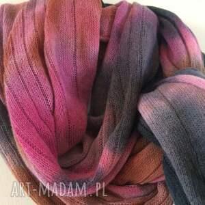 szaliki prezent unikatowy, ręcznie barwiony szal z wysokiej