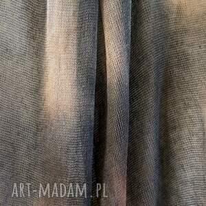 hand made szaliki dzianina unikatowy ręcznie barwiony lniany