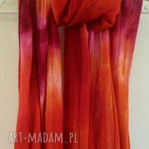 szaliki: Radosny wełniany szal - miękki