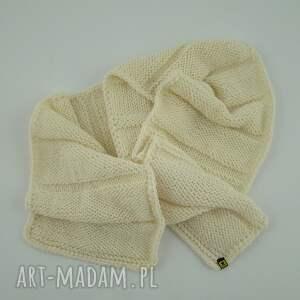 eleganckie szaliki komplet szal kremowy