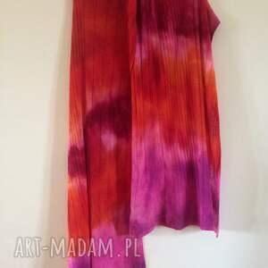 różowe szaliki wełniany radosny szal