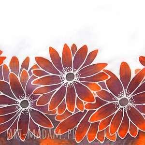 rudbekia szaliki ręcznie malowany szal rudbekie