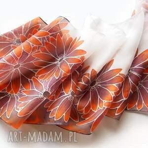 szaliki szal jedwabny ręcznie malowany rudbekie