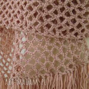 modne szaliki wielki różne kolory - szal ażurowy