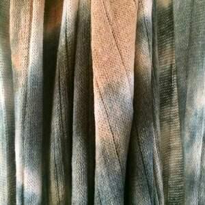szaliki: Wełniany szal kora brzozy - dzianina