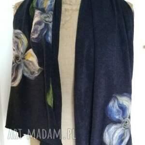 ręcznie zrobione szaliki szalik szal bohemian wełniany etniczny